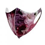 花の写真を全面にプリントしたオリジナルマスク