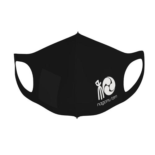農園のロゴをプリントしてオリジナルマスクを制作