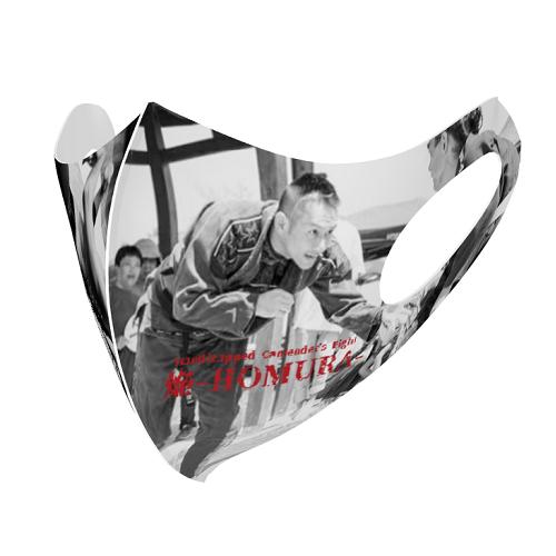 レスリングの写真をプリントしたオリジナルマスク