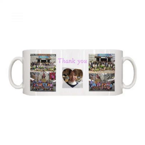 幼稚園の写真をプリントした卒園祝いマグカップ