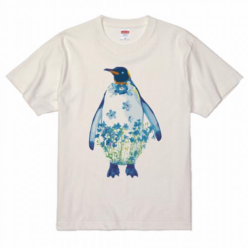ペンギンのイラストをプリントした販売用のオリジナルTシャツ