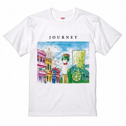 イラストデザインを鮮やかにプリントしたオリジナルTシャツ