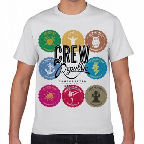 カラフルなデザインをプリントしたオリジナルTシャツ