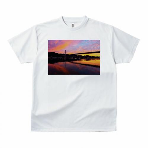 自作の写真をプリントしたオリジナルTシャツ