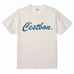 メッセージロゴをプリントしたおしゃれなプリントTシャツ