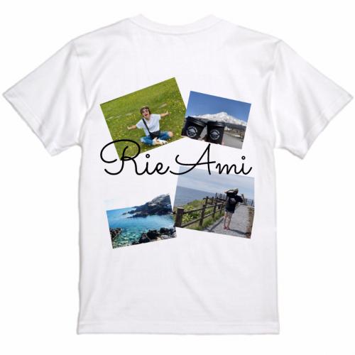 思い出の写真を鮮やかなカラーでプリントしたオリジナルTシャツ