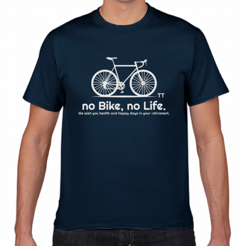 自転車のイラストがおしゃれなシルクスクリーンプリントTシャツ