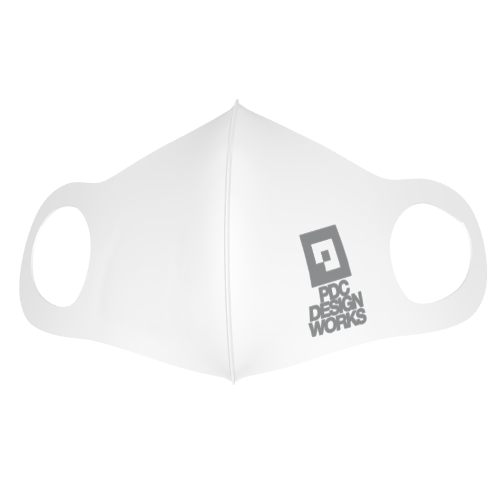 デザイン会社のロゴをプリントしたオリジナルマスク
