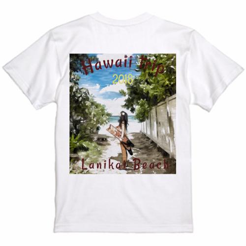 旅の思い出イラストを鮮やかにプリントしたオリジナルTシャツ