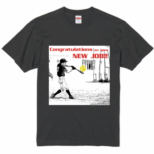 写真をプリントして就職祝いのTシャツを作成!