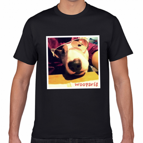 即日出荷で愛犬写真のプリントTシャツを作成!