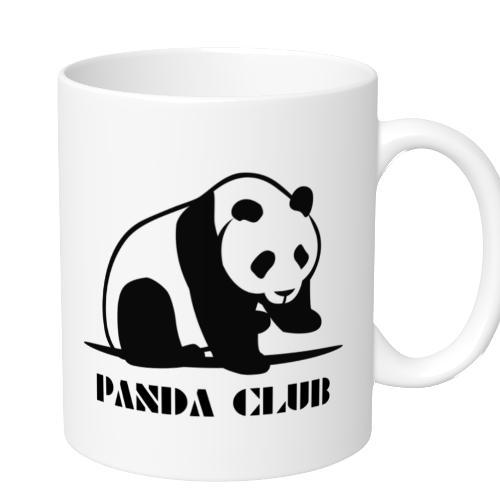 パンダのイラストをプリントしたマグカップを小ロットで作成!