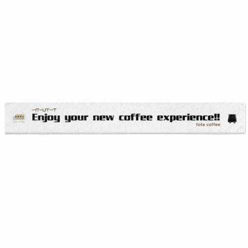 コーヒーショップのロゴをプリントしてオリジナルのクールタオルを作成!