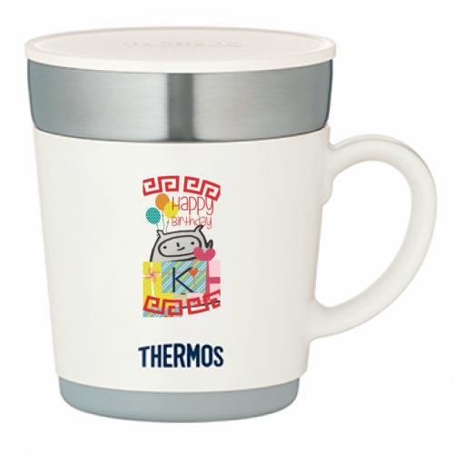 自作イラストをデコって誕生日祝いにサーモスのマグカップを作成!