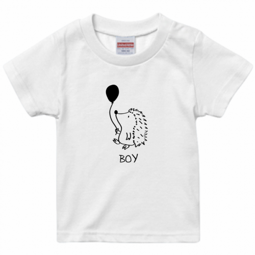 ハリネズミのイラストをプリントして親子Tシャツを作成!