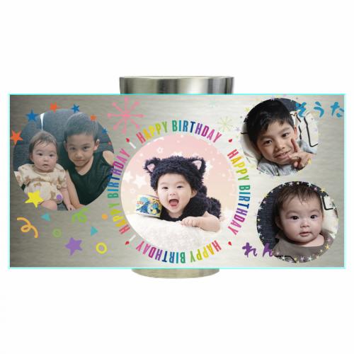 写真をプリントして誕生日祝いのサーモタンブラーを作成!