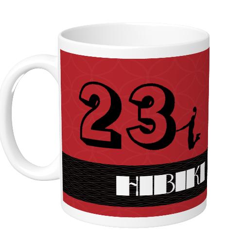 背番号とロゴをプリントしたバスケチームのオリジナルマグカップ